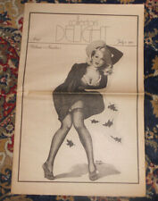 Collectors Delight Magazine Volume 1 Number 1 &  2 Pin up covers