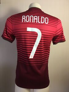 Portugal 2014 2016 NIKE Home SIZE S Ronaldo #7 Football Shirt EURO 2016 France