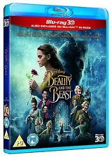Beauty and the Beast (2017) 3D + 2D Emma Watson Blu-Ray Disney NEW Free Ship