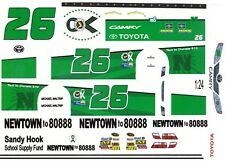 #26 Michael Waltrip Newtown Tragedy Support 2013 1/25th - 1/24th Scale Decals