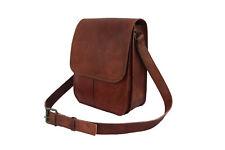 Leather Messenger Crossbody Bag 12 In MacBook A4 Satchel Handbag Sling Bags