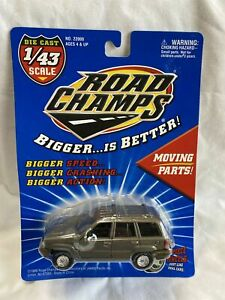 ROAD CHAMPS JEEP GRAND CHEROKEE 1/43, O Scale FREE SHIPPING Moving Parts