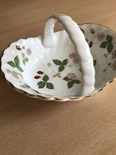 Small Wedgwood Bone China Wild Strawberry Bowl