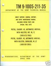 Pistol, Cal .45, M1911A1, Maintenance Manual
