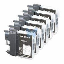 6 BLACK LC65 NEW HIGH YIELD Compatible Ink LC65BK LC65 LC-65 for Brother Printer