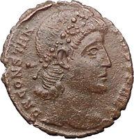 Constantius II Constantine I the Great son Ancient Roman Coin Wreath  i31048