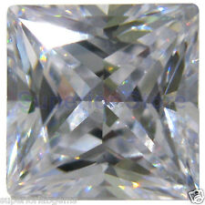 8.0 x 8.0 mm 2.5 ct PRINCESS Cut Sim Diamond, Lab Diamond WITH LIFETIME WARRANTY