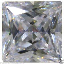 8.0 x 8.0 mm 2.5 ct PRINCESS Cut Sim Diamond, Lab Diamond WITH LIFETIME WARRANTY