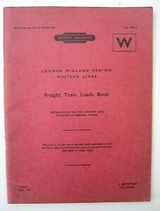 BR London Midland Region Western Lines Freight Train Loads Book Section W 1964