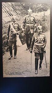 Ansichtskarte Kaiser Wilhelm II. mit seinen Flügeladjutanten, gelaufen 1911