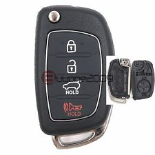 Replacement Shell Folding Remote Key Case Fob 4 Button for Hyundai ix45 Santa Fe