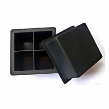 Giant Silicone Ice Cube Square Jumbo King Size Big Black Mould Large Mold Tray