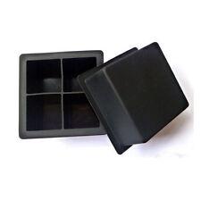 Giant Silicone Ice Cube Square Jumbo King Size Big Black Mould Large Mold Tray