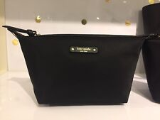 NWT Kate Spade Jodi Wilson Road Cosmetic Black Bag Pouch WLRU3327 Lightweight