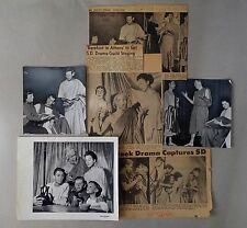 1955 Barefoot in Athens LOT#2 - Photos News Clippings San Diego Puppet Theater