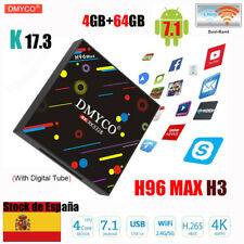 ES 4GB+64GB H96 MAX Android 7.1 TV Box RK3328 Quad-Core 64bit HD 4K Media Player
