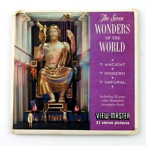 Vintage View-Master Reels Set Packet B901 SEVEN WONDERS OF THE WORLD (1962)