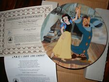 """Disney Collector Plates """"May I Have This Dance� Snow White Bradford Exchange"""
