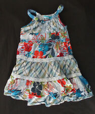 The Children's Place 4T Girls Tiered Sun Dress Blue EUC TCP floral plaid