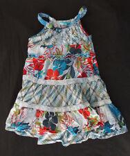 The Children's Place 4T Girls Tiered Sun Dress Blue EUC TCP floral plaid
