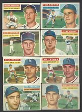 1956 Topps Baseball Finish Your Set Lot Ex-Mt TO NM Off Center $3.50 PER  CARD