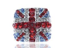 Metal Silver Tone Contemporary Multicoloured Rhinestone Fashion Ring Clr