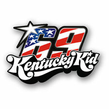 2pcs | Kentucky Kid | Nicky Hayden #69 RIP Marquez decal Sticker Moto GP 46 Tag