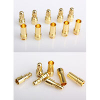20 Paar Goldstecker Bananenstecker Goldkontaktstecker 3.5mm für RC Batterie