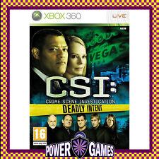 CSI: Crime Scene Investigation - Deadly Intent (Microsoft Xbox 360) Brand New