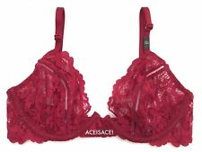 NWT* Victoria's Secret VERY SEXY FLORAL*MESH UNLINED DEMI Bra--CHERRY--32C
