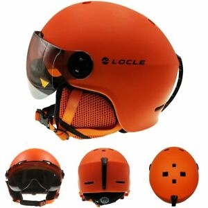 Ski Helmet Goggles Winter Sports Snowmobile Skiing Snowboard Safe Head Protector