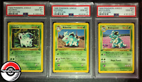 1999 Pokemon Jungle Nidoran, Nidorina, Nidoqueen Lot 1st Edition PSA 10