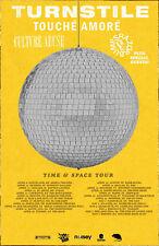 TURNSTILE Time & Space 2018 Tour Ltd Ed New RARE Poster +FREE Rock Punk Poster!