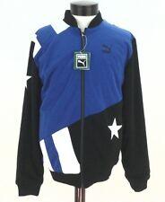 PUMA Jacket Reversible Varsity Bomber Men's Blue/Black STAR Zip Up size M $140