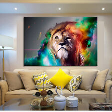 Lion Canvas Print Painting Abstract Animal Fine Wall Art Living Room Decor