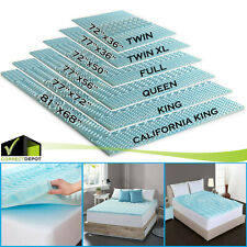 6 Sizes Orthopedic Mattress Topper Bed Pad 5-Zone Authentic Comfort 2-Inch Foam