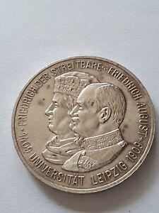 5 Mark, Deutsches Reich, Universität Leipzig, 1909, 900er Silber