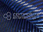 "Carbon Fiber Made With Kevlar Blue Cloth Fabric 2x2 Twill 50"" 3k 5.5oz"
