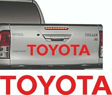 Toyota RED sticker Hilux Tailgate rear decal  pick up D4D mk3 kit 2.5 Diesel