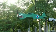 P-40 Warhawk Cedar Whirligig weathervane Lawn ornament  made in USA