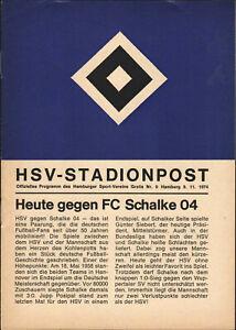 BL 74/75 Hamburger SV - FC Schalke 04, 09.11.1974
