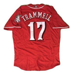 Taylor Trammell SIGNED #17 Cincinnati Reds sz XL jersey w/ PSA COA - Mariners