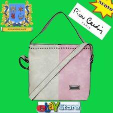 Borsa Donna Pierre Cardin Bicolore Rosa/Avorio secchiello fashion mano spalla.