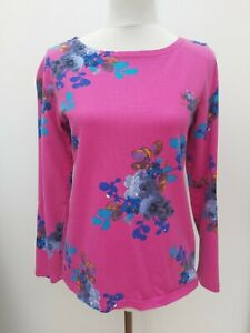 Joules Clothing Size 10 12 Pink Blue Floral Jumper Tunic Top Summer Fashion Wear