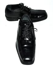 Alffani Proud Black  Bicycle Square Toe Cushioned Insole Mens Oxfords Size 7W