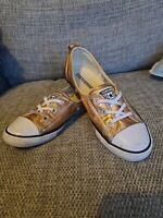 Rose Gold Sparkle Ballet Style Converse all star UK Size 4