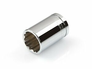 1/2 Inch Drive by 18 mm Shallow Socket 12-Point Slim Walls Shallow Well Tekton