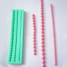 Pearl String Beads Silicone  Cake Decorating Fondant Baking Mould HI 3 Sizes