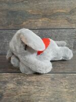 VTG Steiff Sleeping Lying Elephant Animal With Ear Button Label Collectable Rare