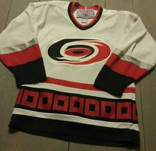 Boys Carolina Hurricanes Jersey White Red Black CCM Size L/XL Hockey Jersey